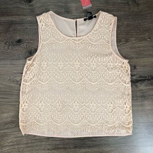 Laced tank top.